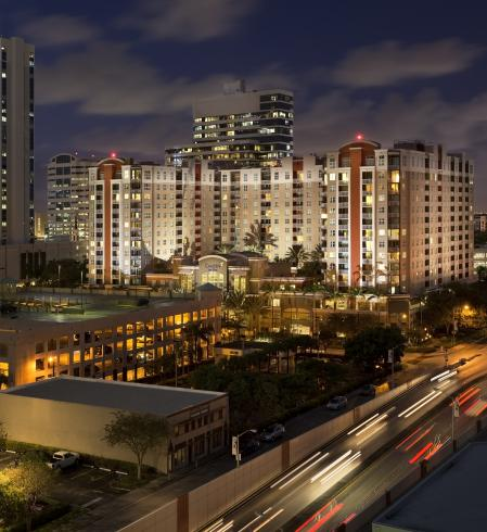 Camden Las Olas Apartments in Downtown Fort Lauderdale, Florida.