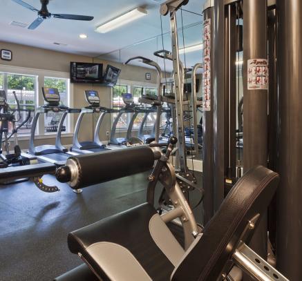 Fitness Center at Camden Lake Pine Apartments in Apex, North Carolina