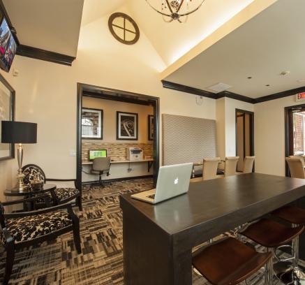 Business Center at Camden Vanderbilt Apartments in Houston, Texas