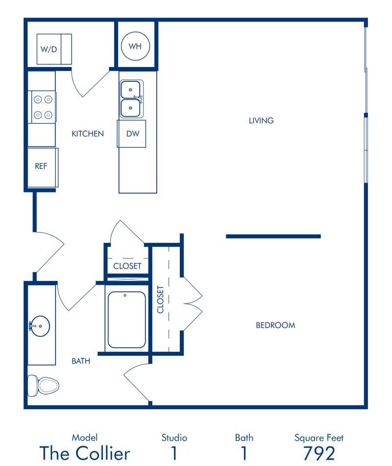 One Bedroom Apartment at Camden Buckhead Square in Atlanta, GA
